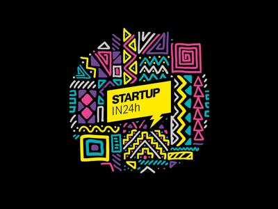 StartUp in 24h 24h startup creative digital agency 2d animation logo