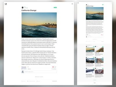 LA Theme Easy Reading theme website white editorial responsive clean blog design reading