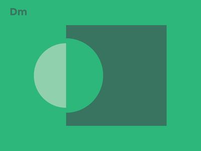 Personal Branding Exploration 2/3 web design shape personal flat clean branding green block color