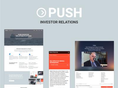 New Startup Project webflow corporate clean landing page investor relations investor platform website