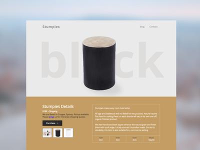 Stumpies timber wood plasso webflow landing page product single product shop e-commerce
