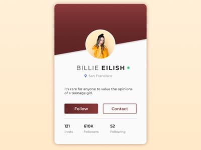 User Profile - #dailyui #006