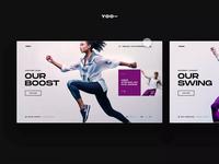 YOO - Website Design Concept agonmustafa mobile app dark ui layout design inspirational typography userexperience userinterface ux uiux ui webdesign