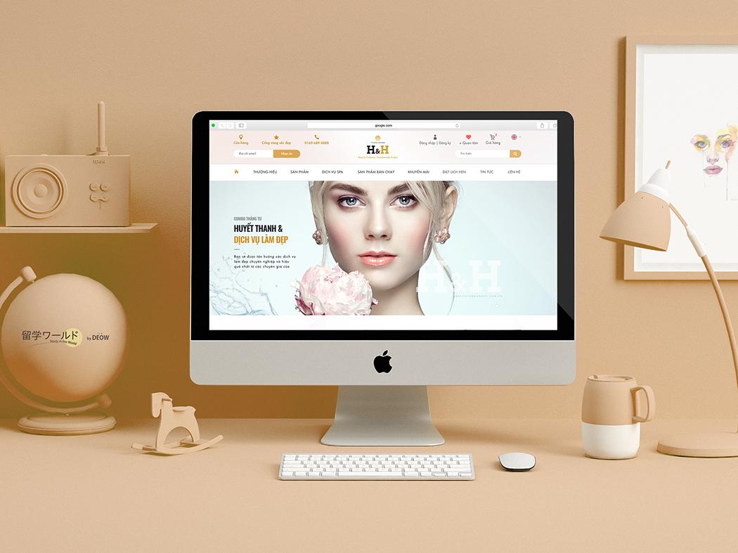 H&H Website pastel layout art direction ui ux website beauty