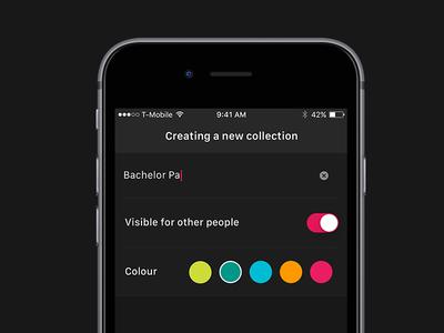 Creating a new collection ui mobile design music sleeve pulsor colour sf ios create