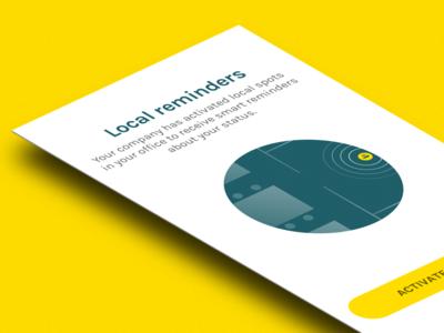 Popup screen  incentro popup visual ios app illustration local beacon