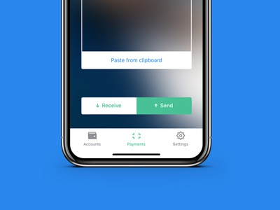 Gulden   Payments payments qr qr-code finance design ui ios blockchain iphone x crypto gulden