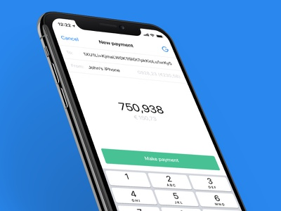 Gulden | New payment wallet gulden crypto iphone x blockchain e-gulden ios ux ui design finance