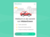Landingpage - MisterGreen Direct green lease incentro car tesla mobile dutch landing mistergreen