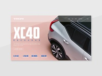 Volvo XC40 blue pink electric car car electric xc40 volvo website ux unsplash ui minimal