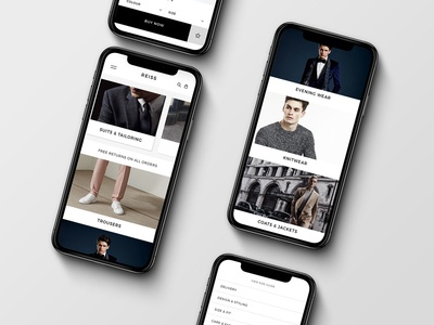 Reiss Mobile App iphone app reiss mobile ui invite product