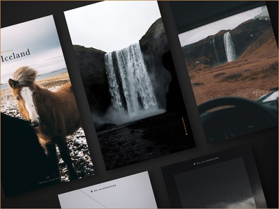 Iceland Story Template template story instagram mobile ui