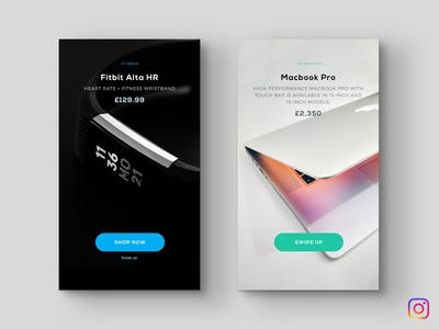 Shop Template 1 ui mobile instagram story template