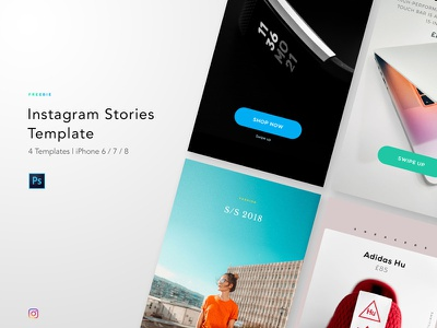 Freebie - Instagram Story Template story instagram free freebie template photoshop mobile ui