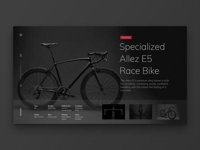 Layout 1.4   Bike Landing Page red dark black e-commerce bike design website unsplash minimal landing page ui