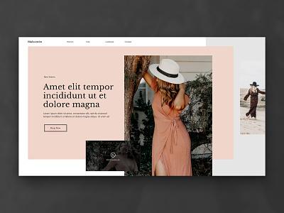 Layout 2.0 | Fashion e-commerce site lookbook landing e-commerce ux beach summer dress peach women fashion design website minimal unsplash ui