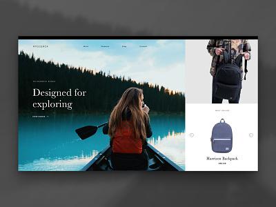 Layout 2.6   Backpack store kayak adventure minimal store bags backpack herschel e commerce travel website unsplash ui