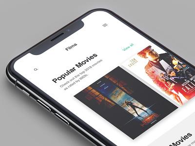 Layout 3.0 | Movie App iphonex apple iphone movies sketch database film movie design ux photoshop mobile unsplash minimal ui