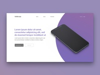 Layout 3.4 | Mobile app landing page