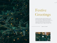 Layout festive greetings
