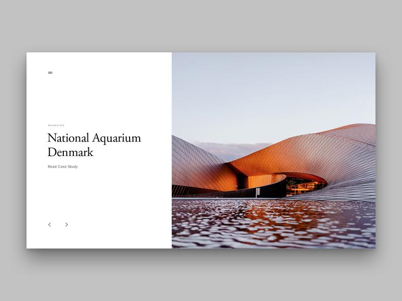 Layout 4.2 | Case Study Landing aquarium article page landing national aquarium denmark denmark architectural design article photoshop ux ui website unsplash minimal