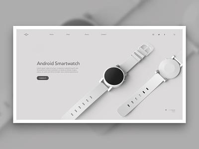Layout 4.4 | Android Smartwatch render google grey smart watch smartwatch android ecommerce design photoshop ux mobile website unsplash minimal ui