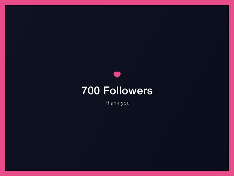 700! 🍻 minimal love dribbble pink navy blue photoshop designersareawesome party celebrate subs followers 700