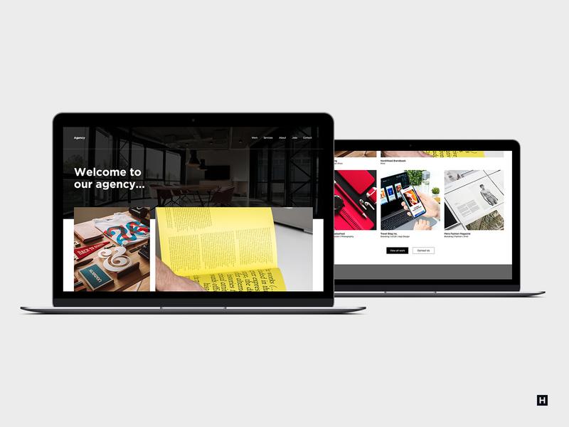 Agency Webpage template landing mobile unsplash design photoshop ux website minimal ui