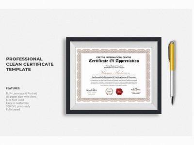 Certificate typography logo business card identity vector branding illustration fiverr clean corporate business card certificate design certificate