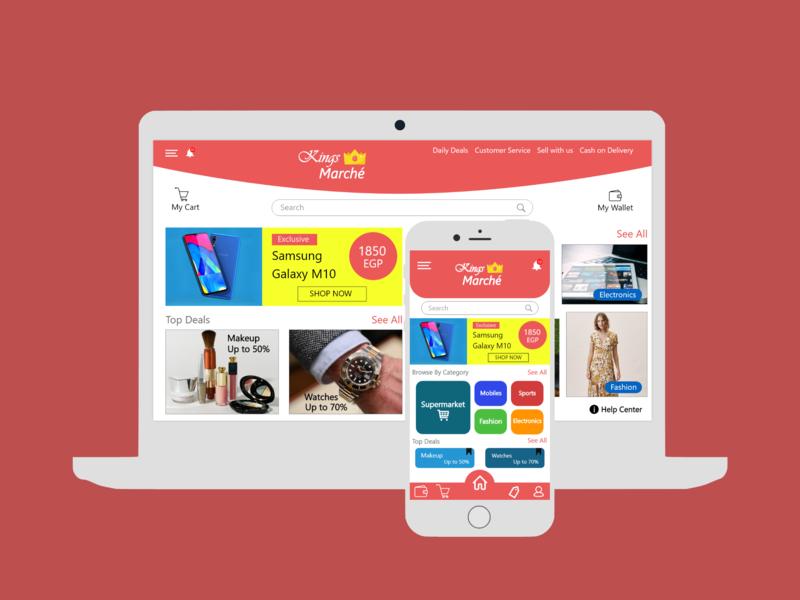Shopping Application and Website web app design ux ui