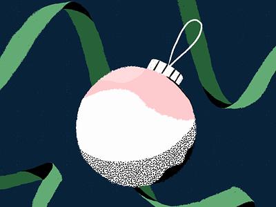 Holiday Joy drawing brush texture xmas card xmas celebration night procreate globe tree christmas holidays