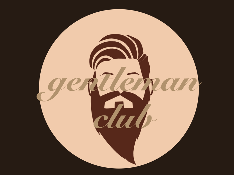 Gentlemen club illustration logo