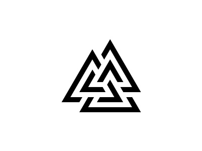 Triangles triangle logo simple minimal icon experimental logo design