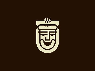 Wurstbraterei wurstbraterei sausage wiener wienie food restaurant cafe man face logo sausage restaurant logo design