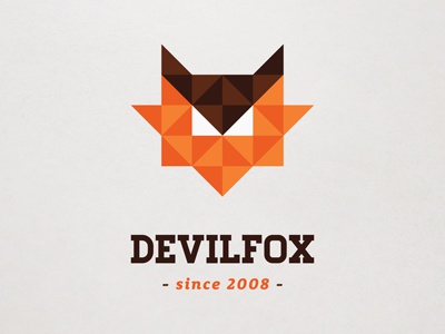 8 bit looking geometrical fox