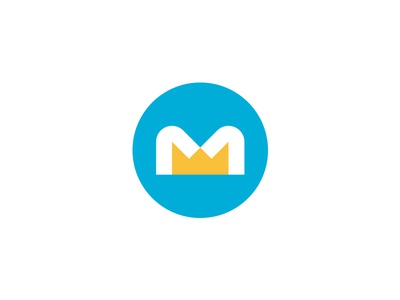 Monarch (Crown & M) logo design identity branding icon logo m monarch king crown