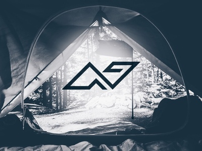 N + Tent + Flag minimal logo design logo simple line abstract camping camp flag tent n