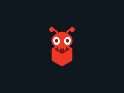 Antbox branding logo design logo insect cube box ant
