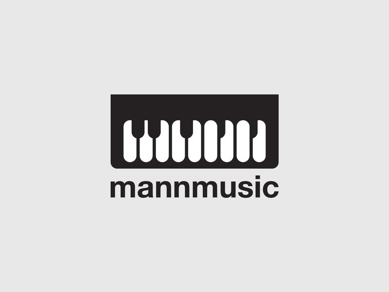 Mann Music instrument music keyboard piano identity branding minimal simple logo design logo
