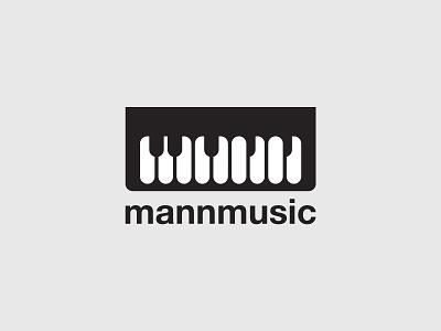 Mann Music instrument music keyboard piano identity branding minimal simple logo design logo