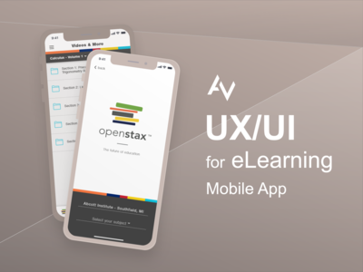 UX/UI Design for eLearning Mobile App