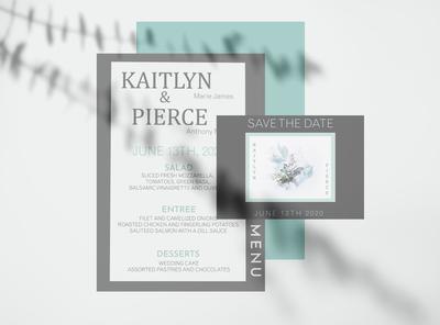 Wedding Menu & Save the Date