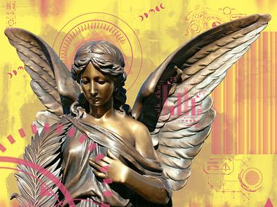 Angel Electric photomanipulation creative design