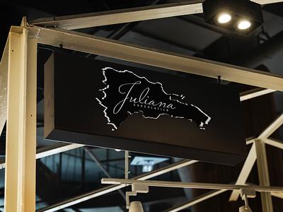 Juliana Chocolatier Signage logo design sign design dominican republic