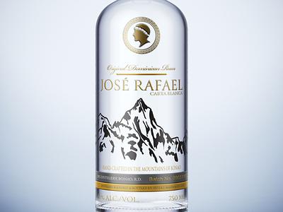Jose Rafael White Rum dominican republic package design