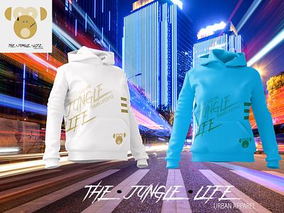 The Jungle Life Urban Apparel t shirt design brand identity corporate identity logo design streetwear urban apparel branding clothing design apparel design
