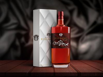 Jose Rafael Rum brand identity brand logo affinity designer label design rum dominican republic package design