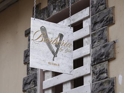 Barberia La Yile brand identity logo design dominican barberia barber