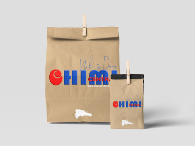 Nik & Dos Chimi Central foodie logo design package design brand identity dominican chimi