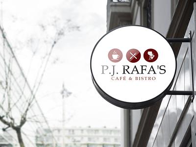 P.J. Rafa Café & Bistro bistro coffee shop restaurant cafe logo design signage